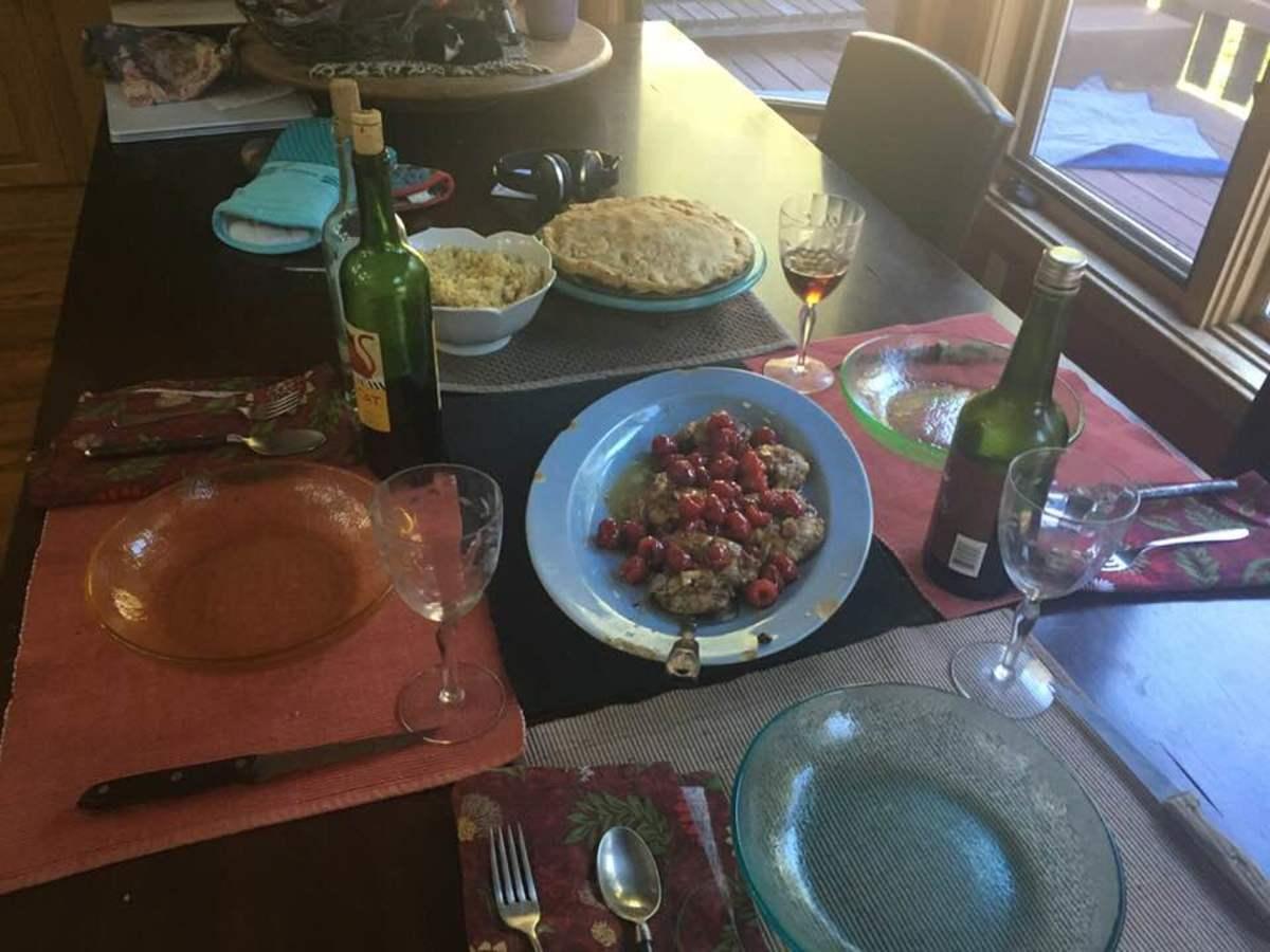 Lemon-Garlic Marinated Chicken With a Madeira-Raspberry Sauce Recipe