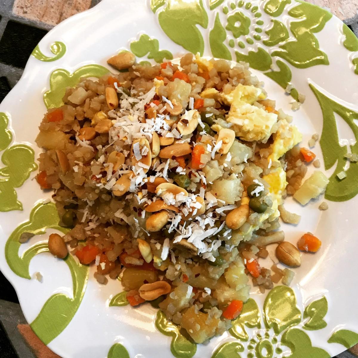 Healthy, Gluten-Free Thai Pineapple Fried Cauliflower Rice