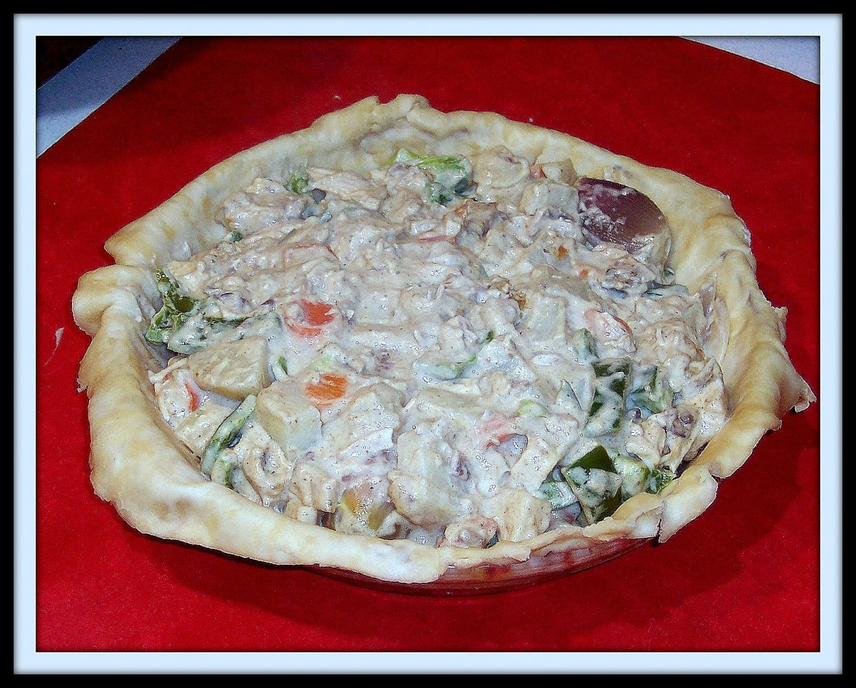 How to Make a Chicken Pot Pie With Veggies