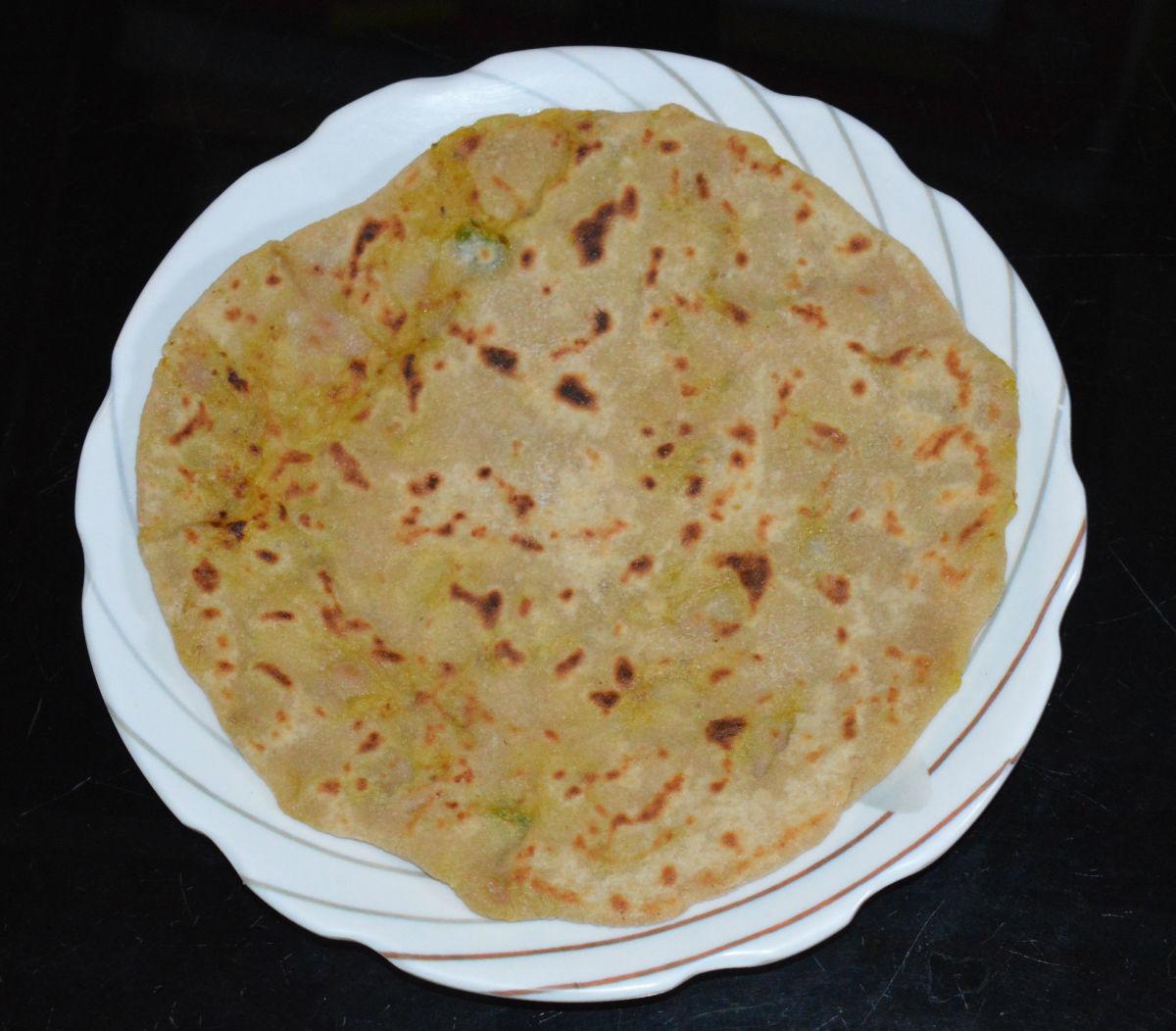 Green Banana Paratha (Flat Bread) Recipe