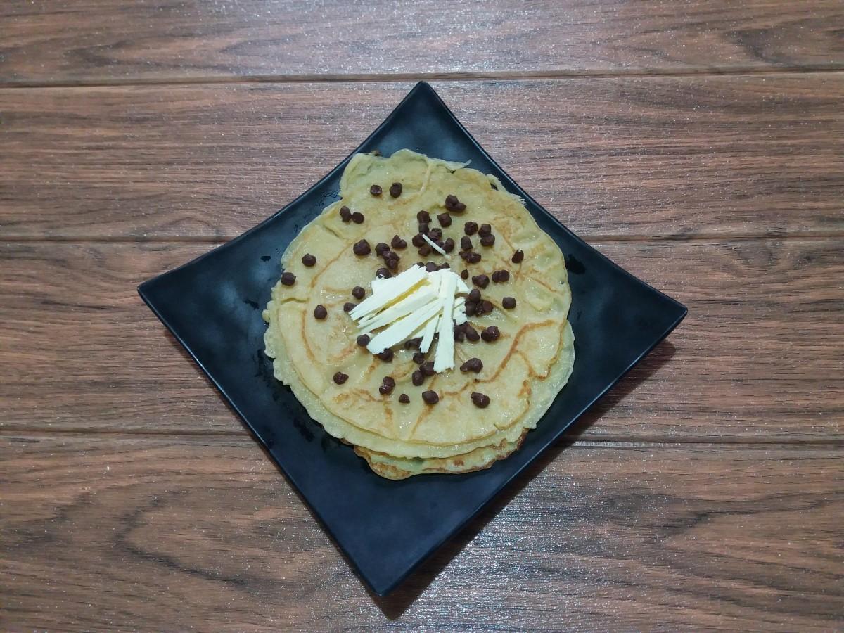 stack of pancakes without baking powder