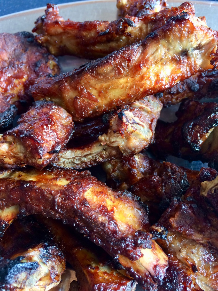 I'm in love with these pork belly ribs with homemade BBQ sauce! Grill for the last ten minutes to get that lovely grilled BBQ finish.