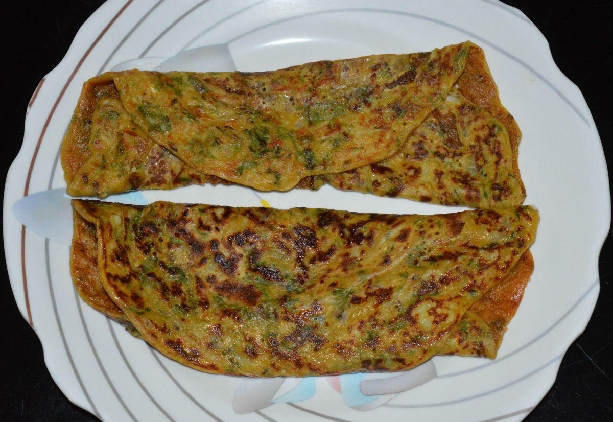 Wheat Flour and Potato Spicy Pancakes