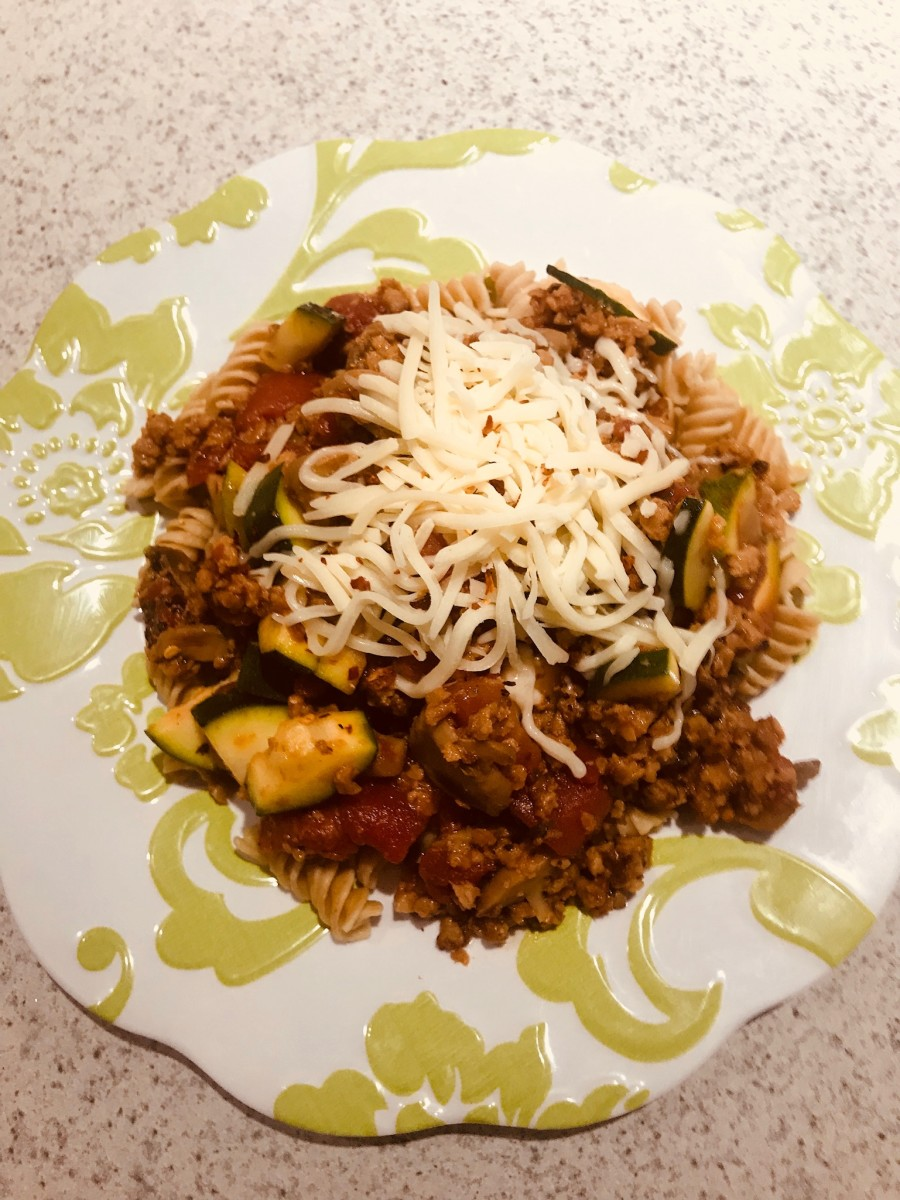 Kosher and Vegetarian Skillet Rotini Parmigiana