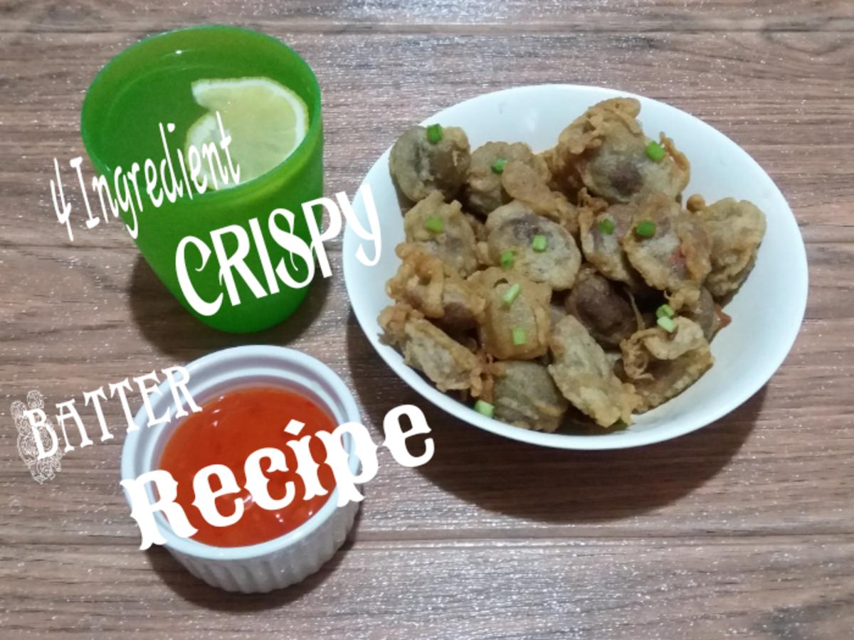Homemade crispy batter recipe