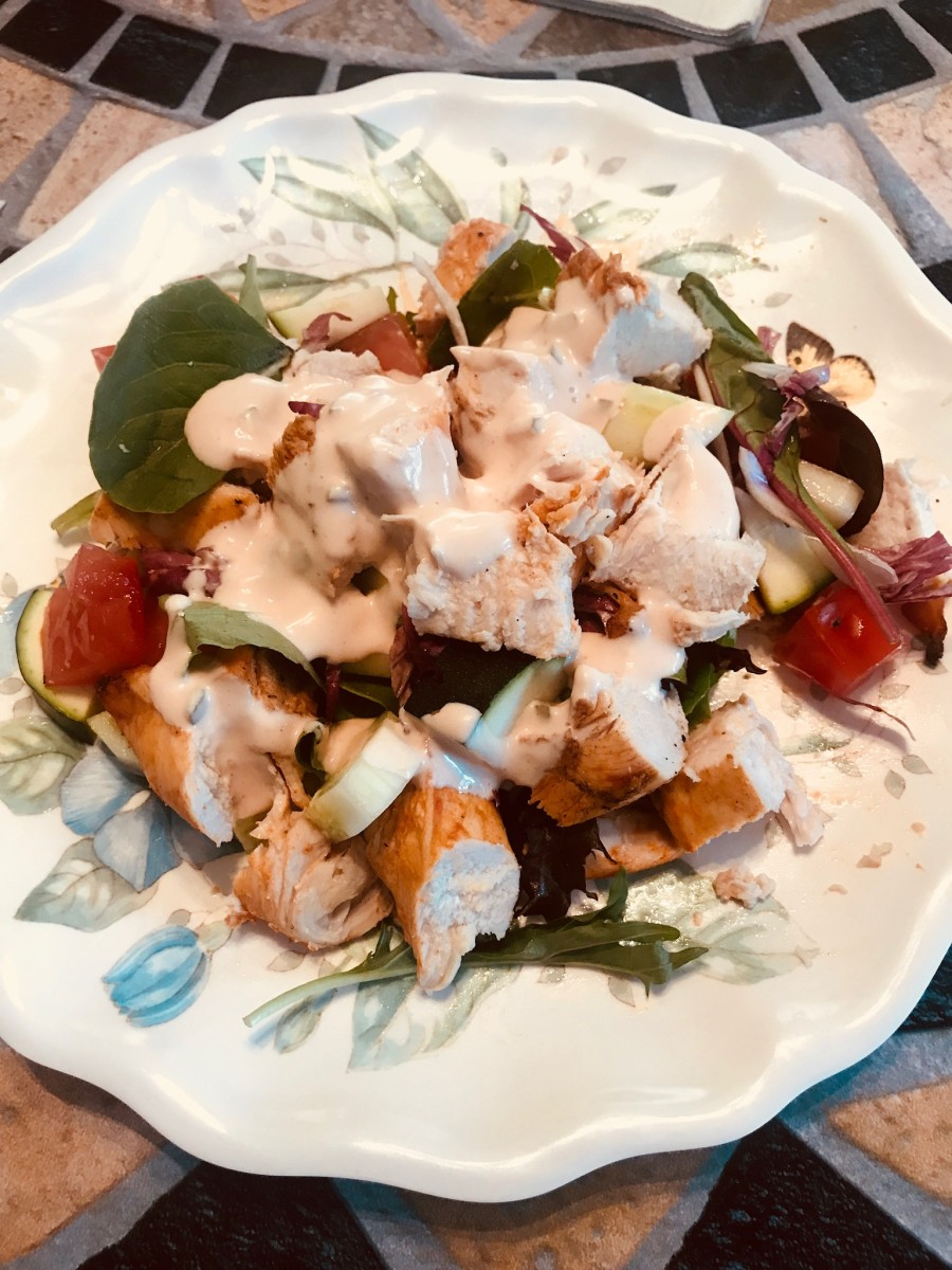 Kosher Buffalo Chicken Salad