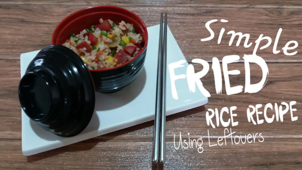 Learn how to make simple fried rice using leftovers