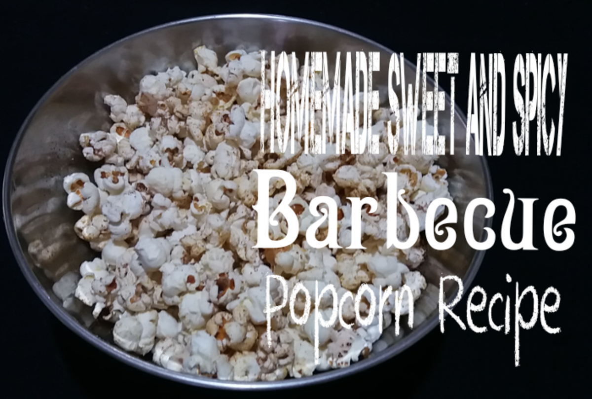 Homemade Sweet and Spicy Barbecue Popcorn Recipe