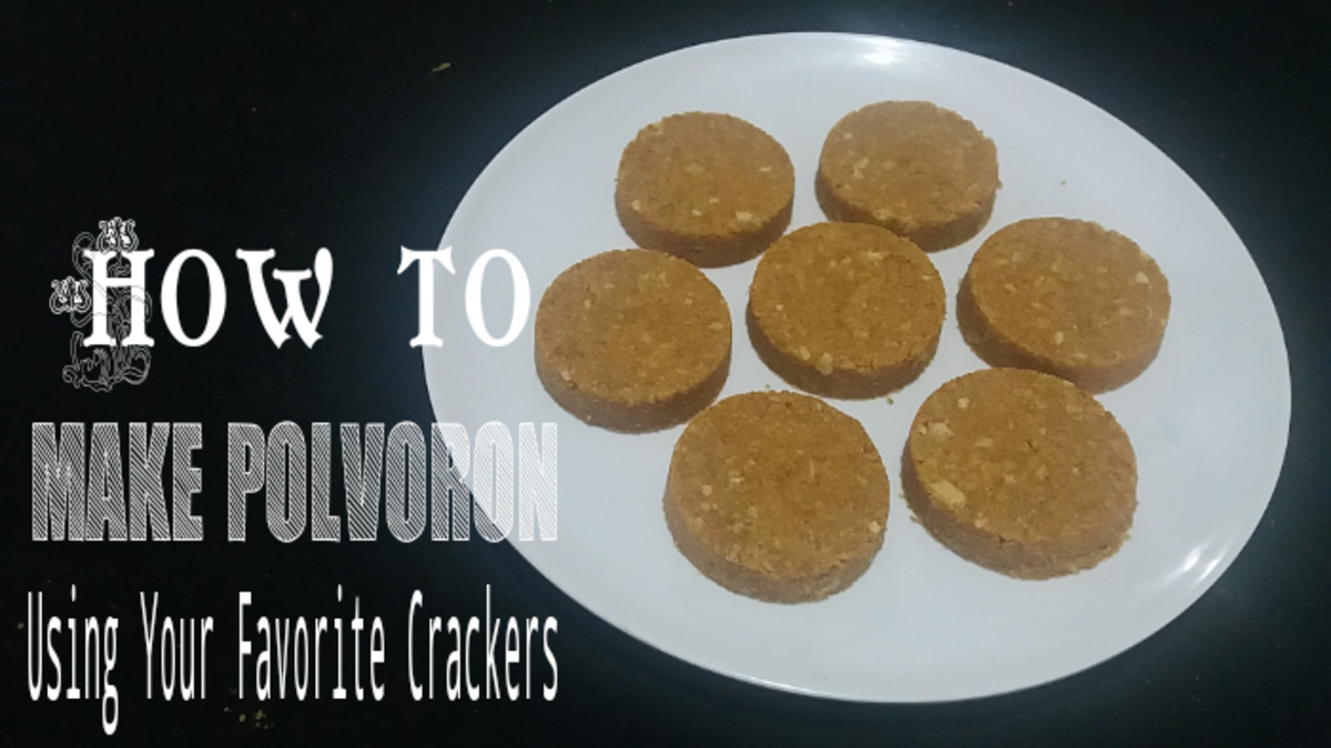 Learn how to make polvoron with crackers.
