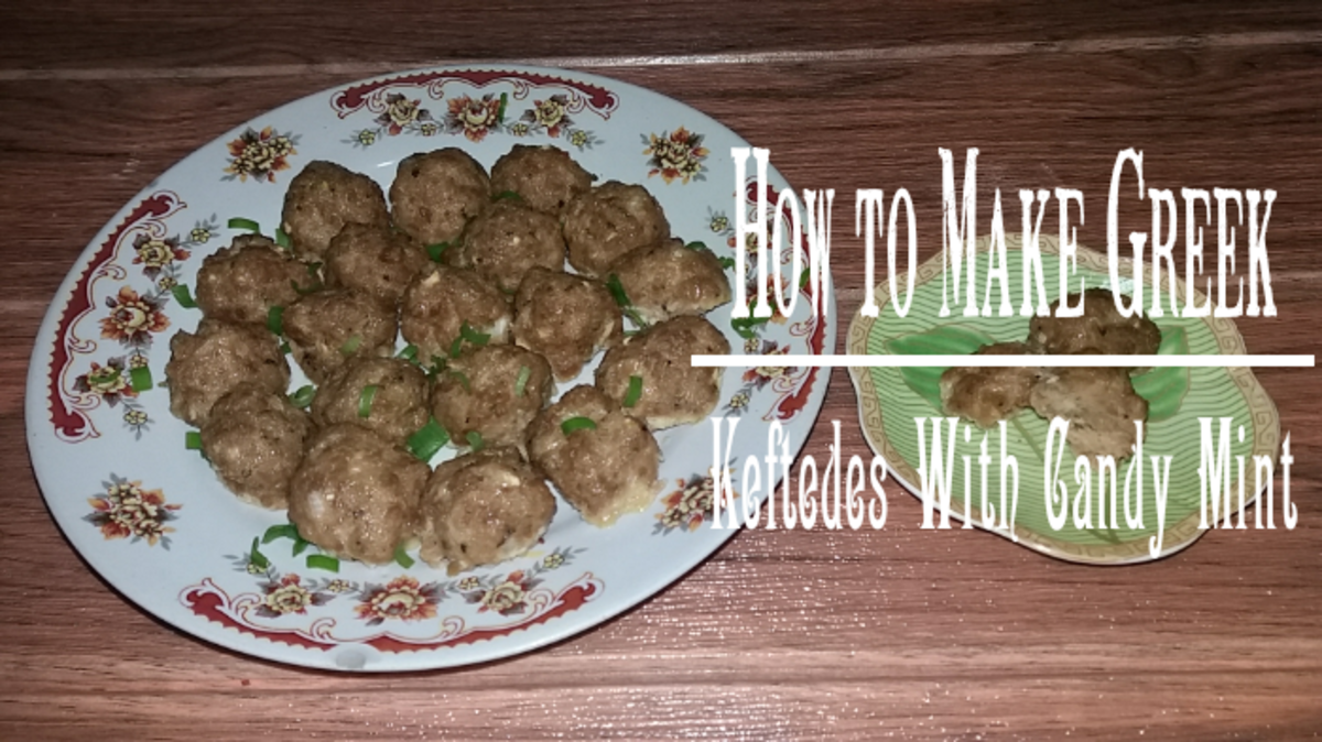 How to Make Greek Keftedes With Mint Candy