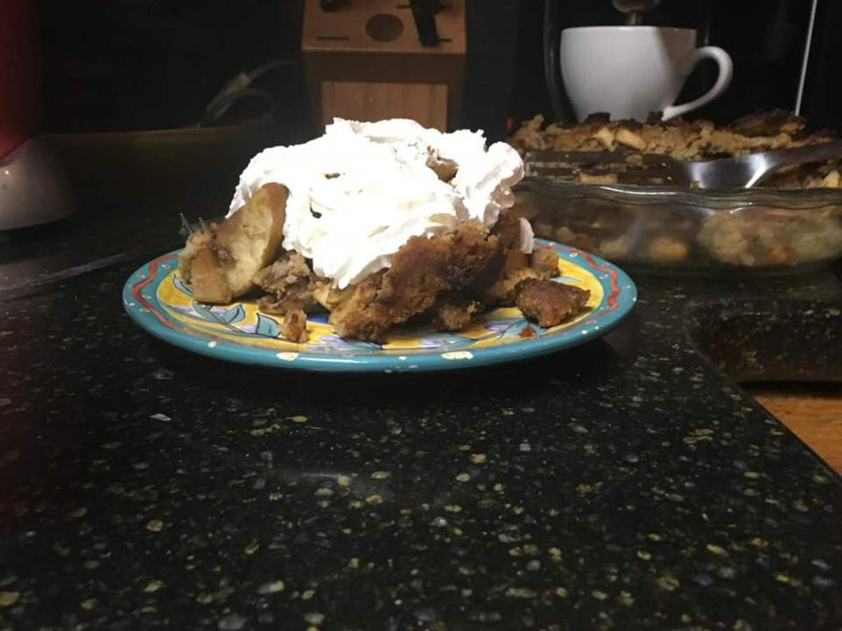 Tart Apple-Rye Bread Pudding Recipe