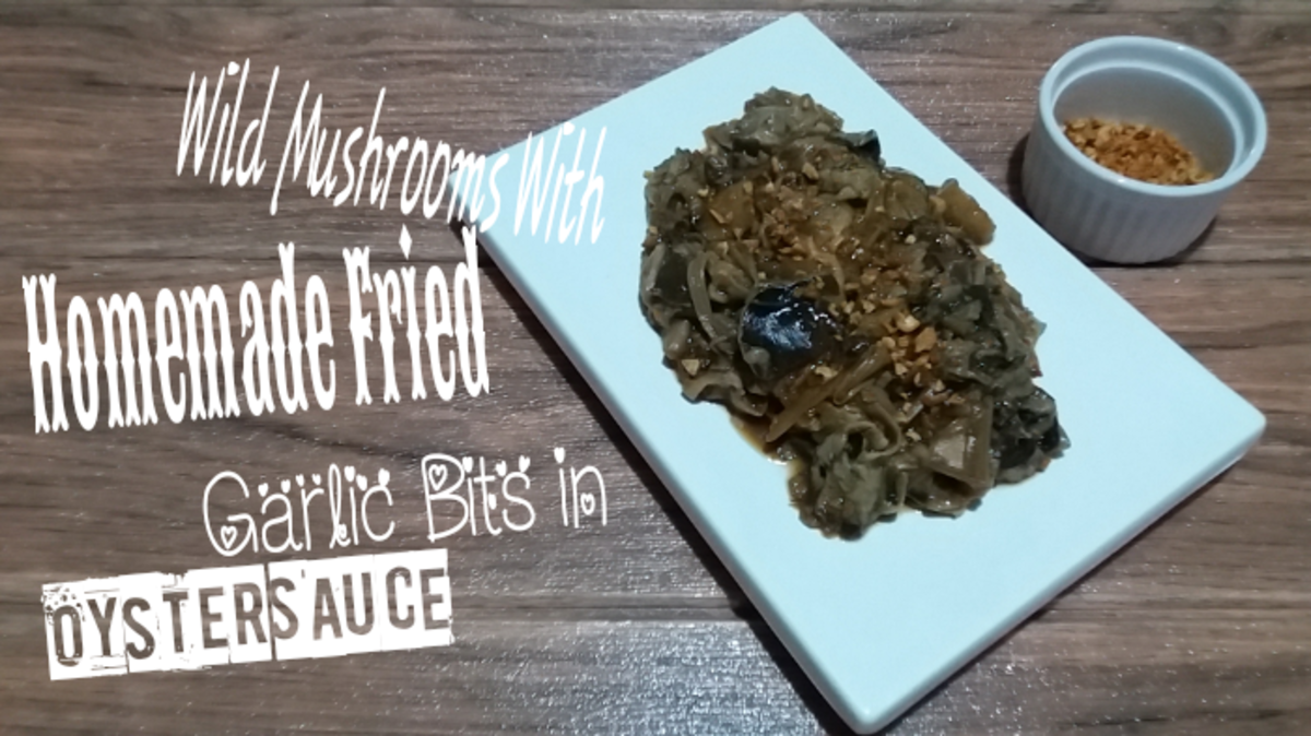 Wild Mushrooms With Homemade Fried Garlic Bits in Oyster Sauce