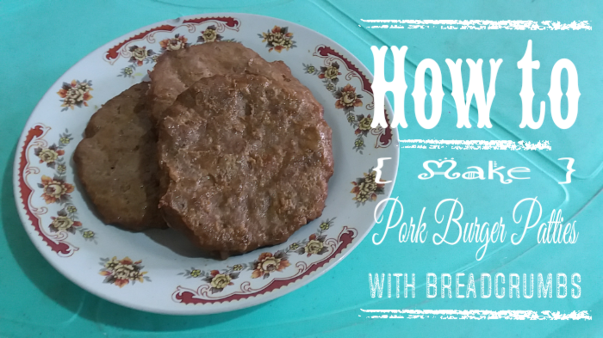How to Make Pork Burger Patties With Breadcrumbs