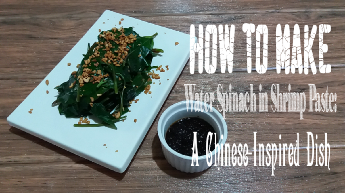 Learn how to make water spinach with shrimp paste, a Chinese-inspired side dish.