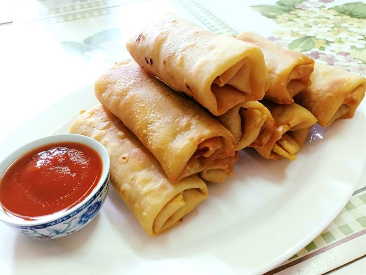 Suji (Semolina) Spring Rolls With Homemade Wrappers