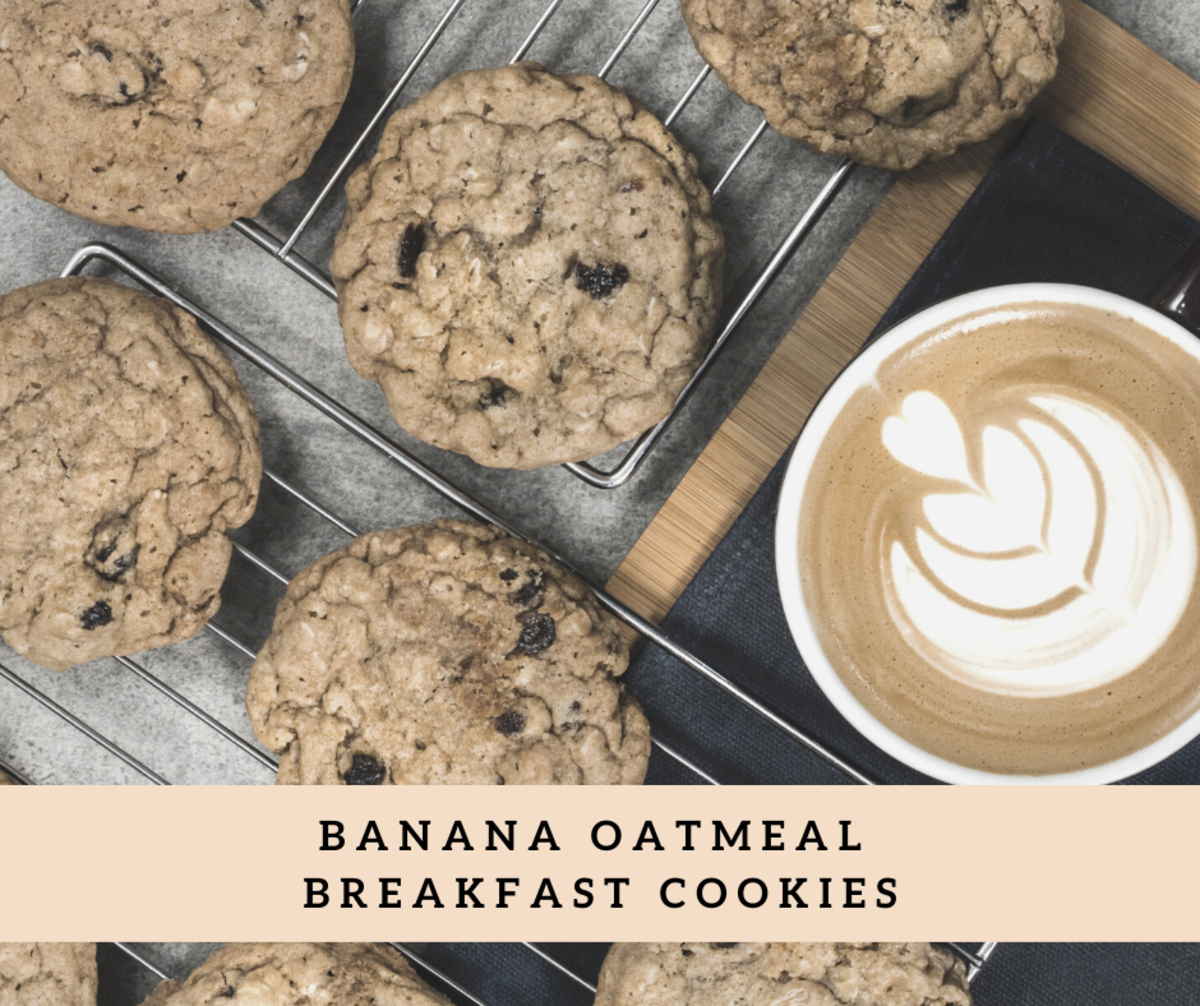 These delicious oatmeal cookies are a great way to start the day.