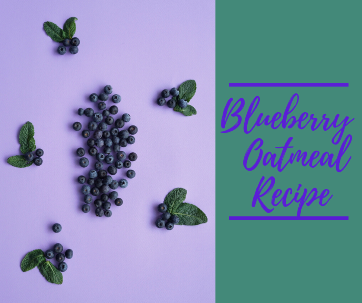 This blueberry oatmeal is a great way to start the day.