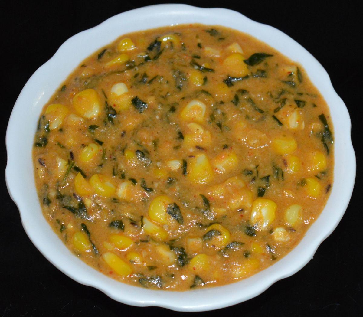 Corn Methi Masala Curry