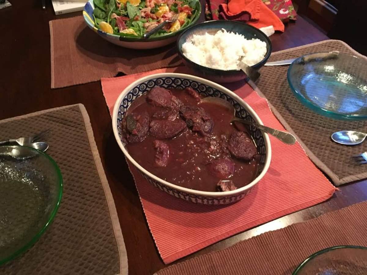 Tender Pork Stewed in Peaches and Blackberries Recipe
