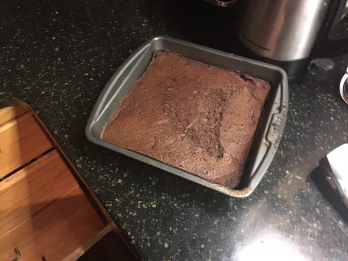Light and Rich Chocolate-Adzuki Soufflé Brownies Recipe