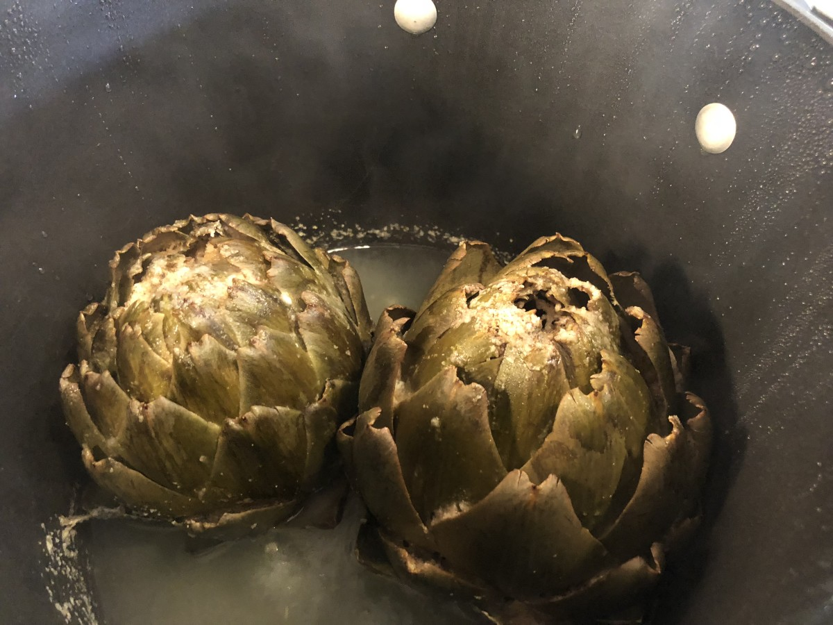 Steamed Stuffed Artichokes, Recipe