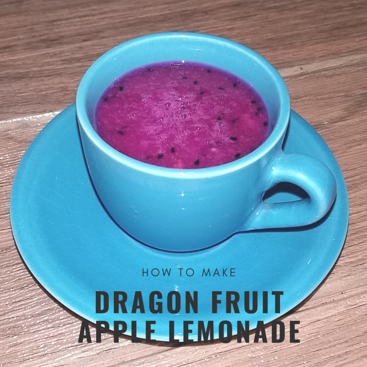 Learn how to make dragon fruit apple lemonade