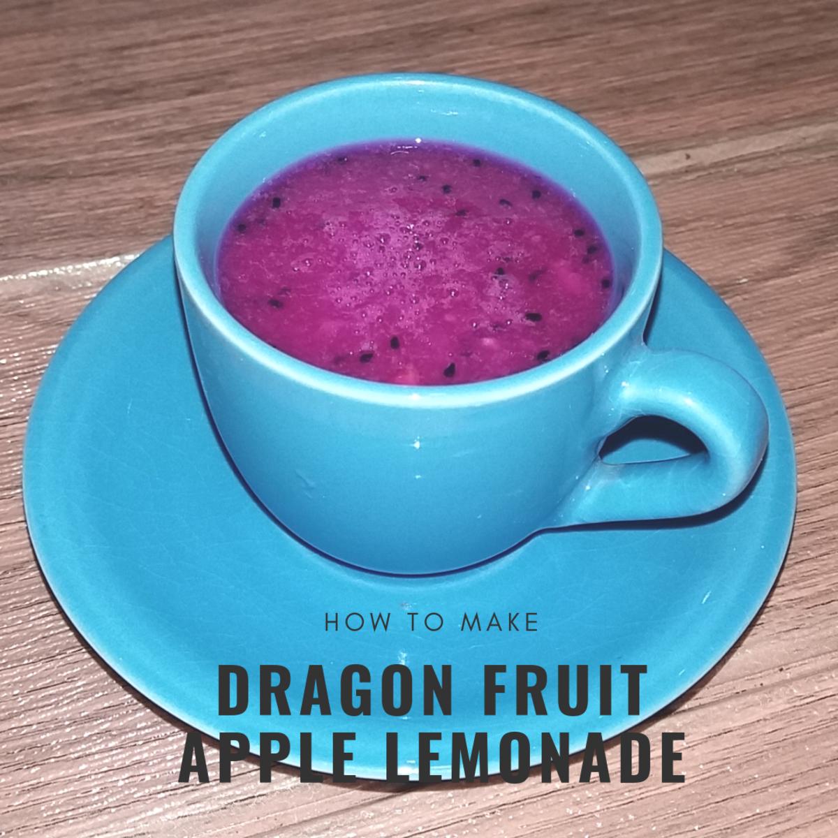 How to Make Dragon Fruit Apple Lemonade