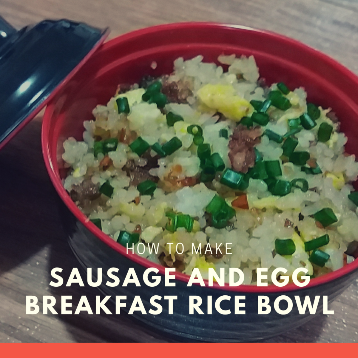 how to make sausage and egg breakfast rice bowl