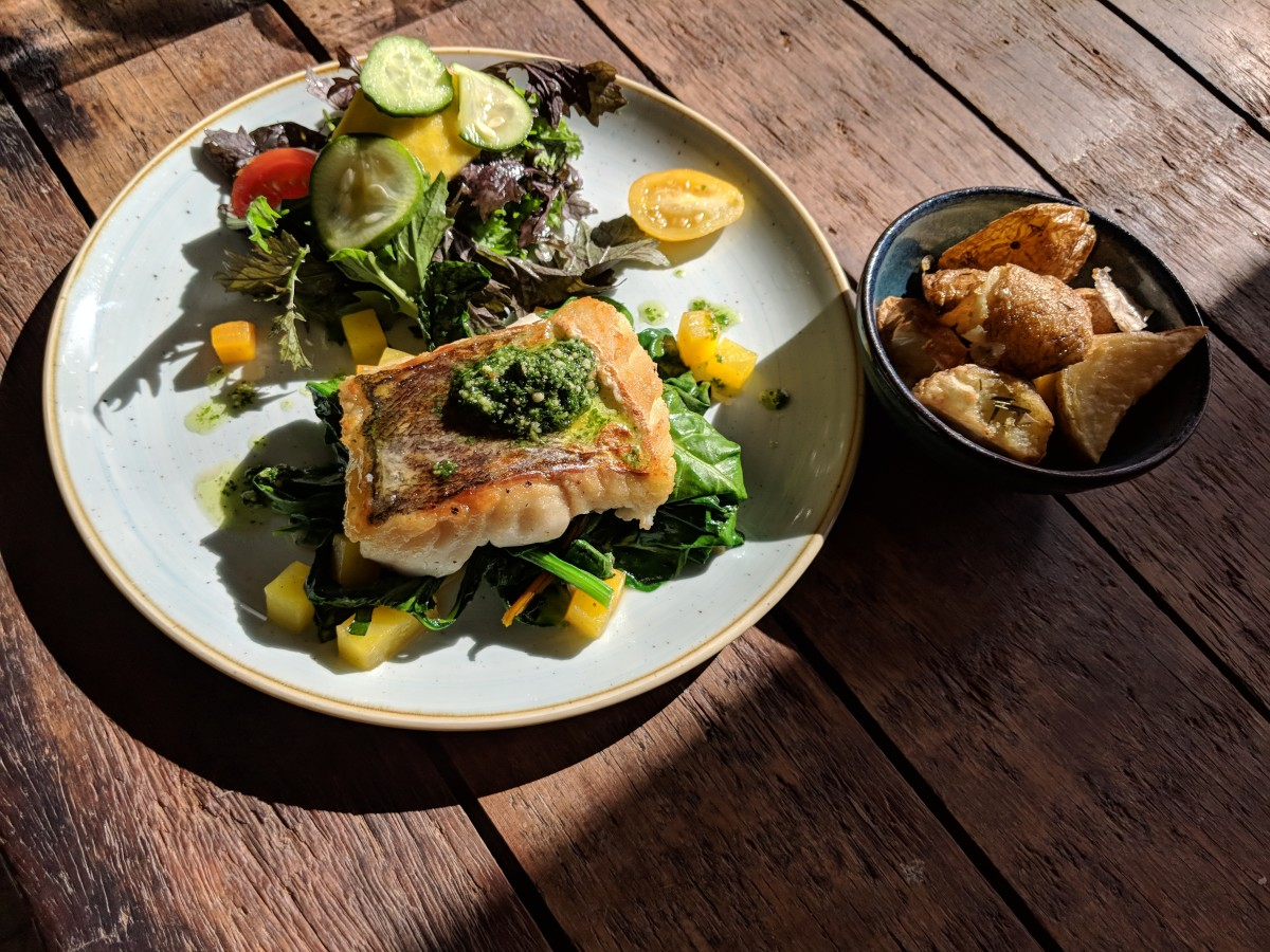 Heavenly Hake at The Green Barn, Burtown House. Lunch in a perfectly Instagrammable spot.