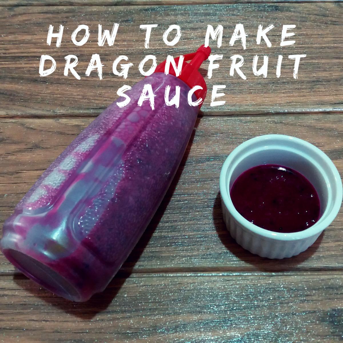 how to make dragon fruit sauce