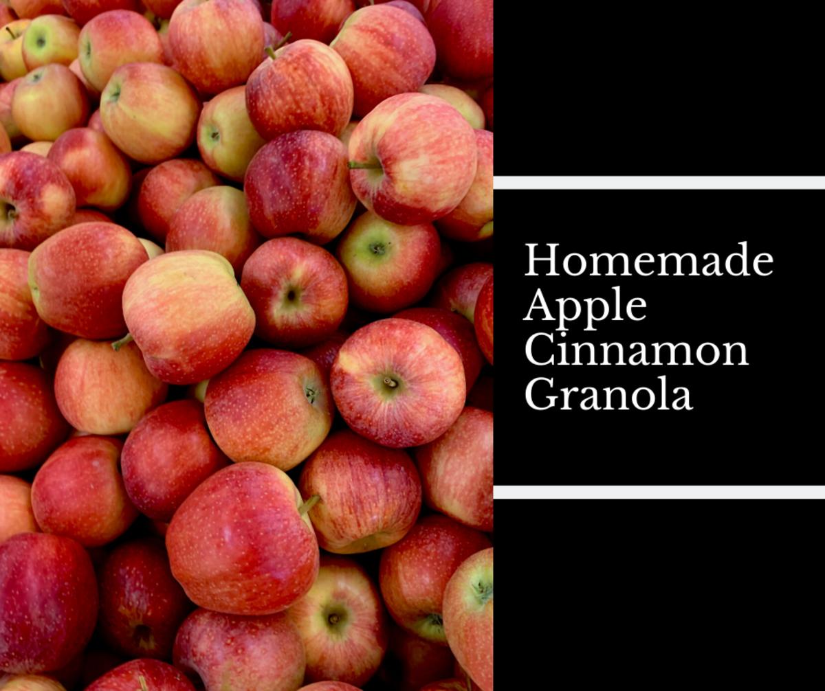 Homemade Apple Cinnamon Granola