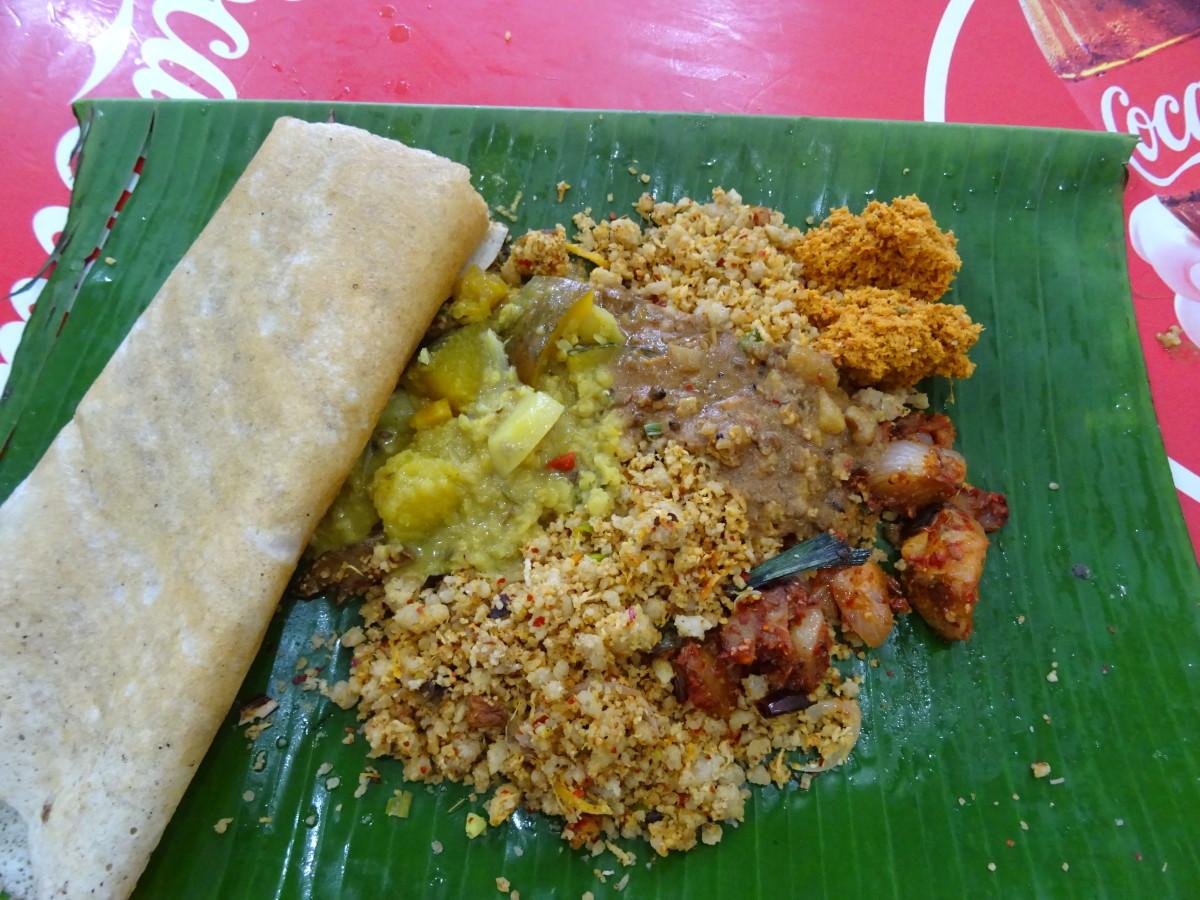 A delicious Sri Lankan meal.