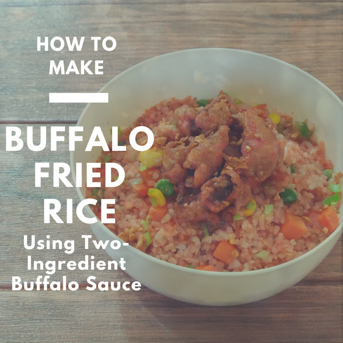 How to make chicken skin fried rice with two-ingredient Buffalo sauce