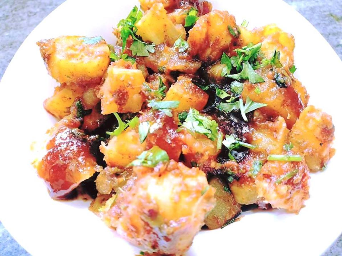 Roasted Shakarkandi (Sweet Potato) Chaat Recipe