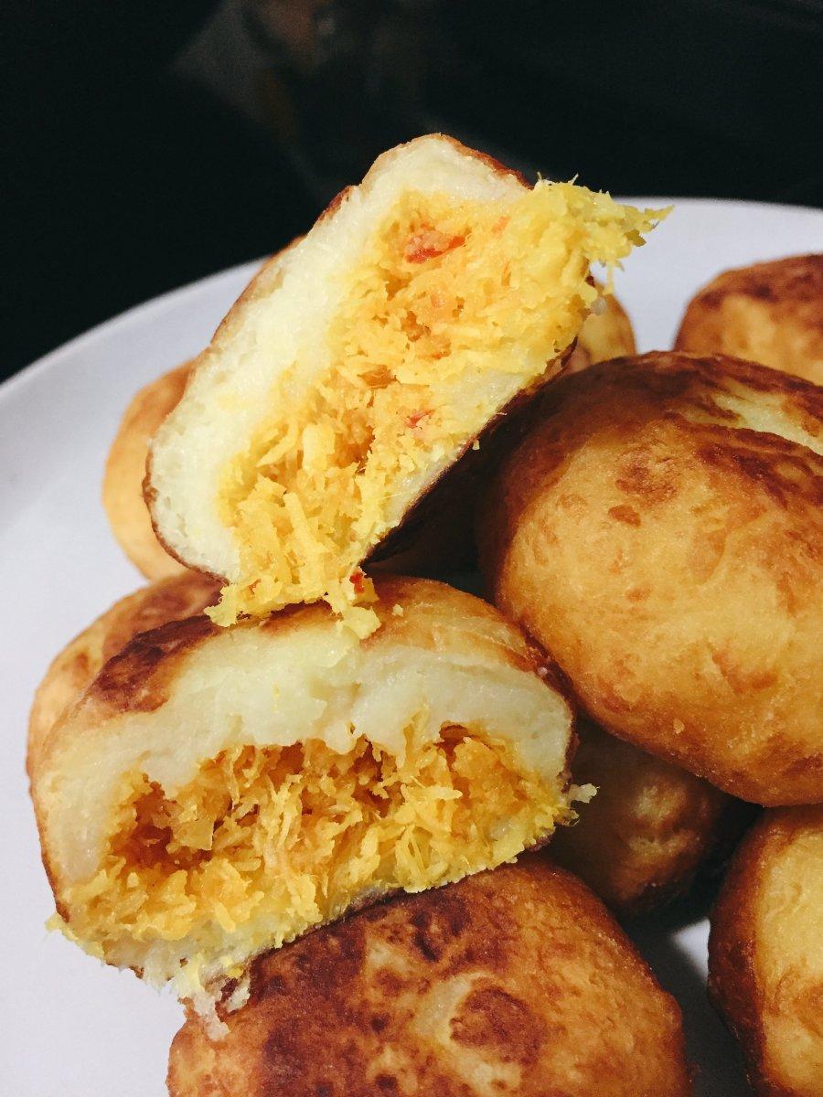 Sweet Potato With Spicy Coconut Filling (Cucur Badak)