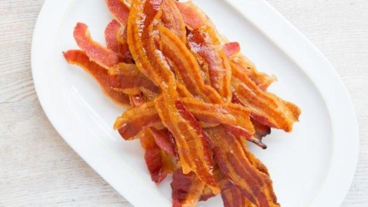 Bacon is a delicious delicacy.