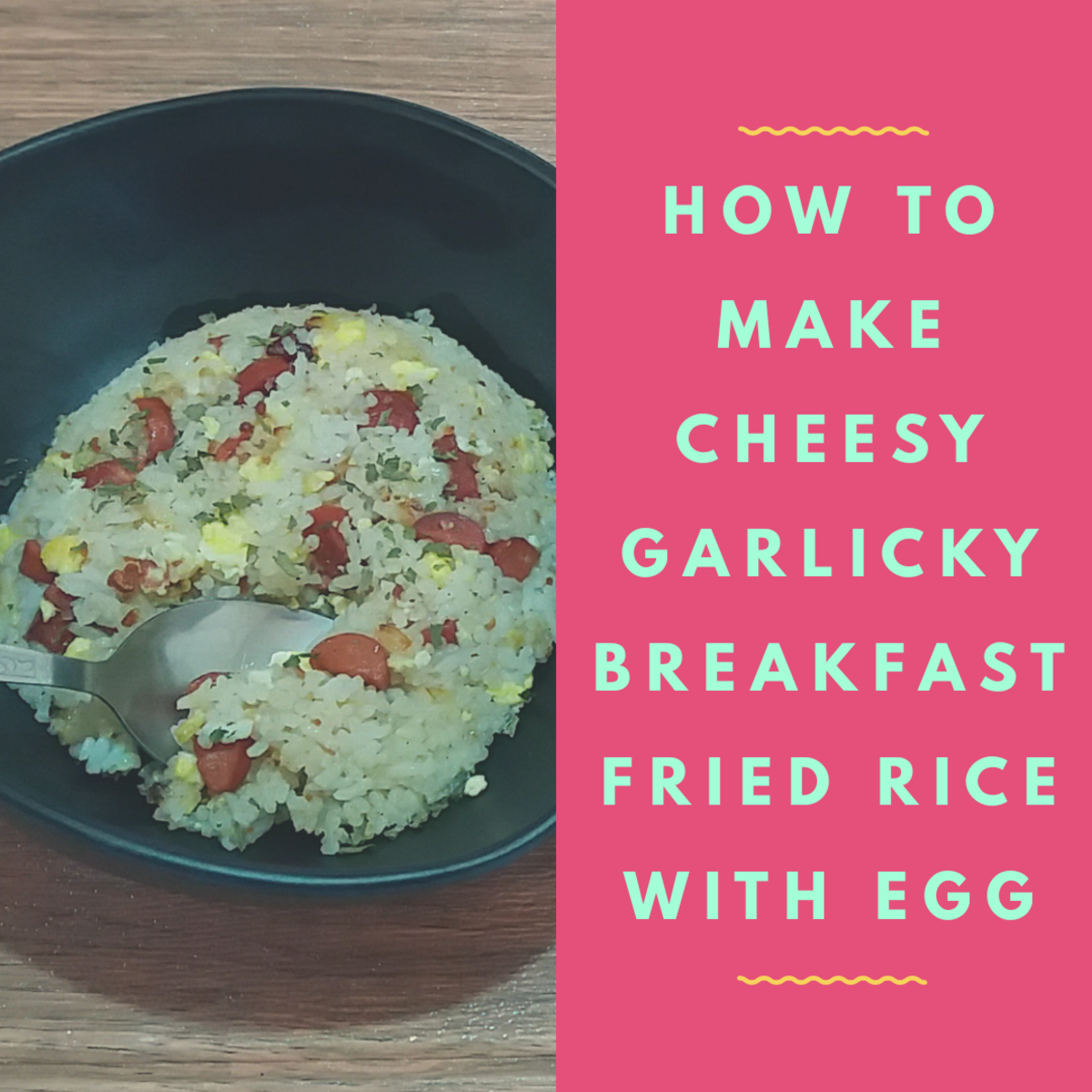 how to make cheesy garlicky breakfast fried rice with egg