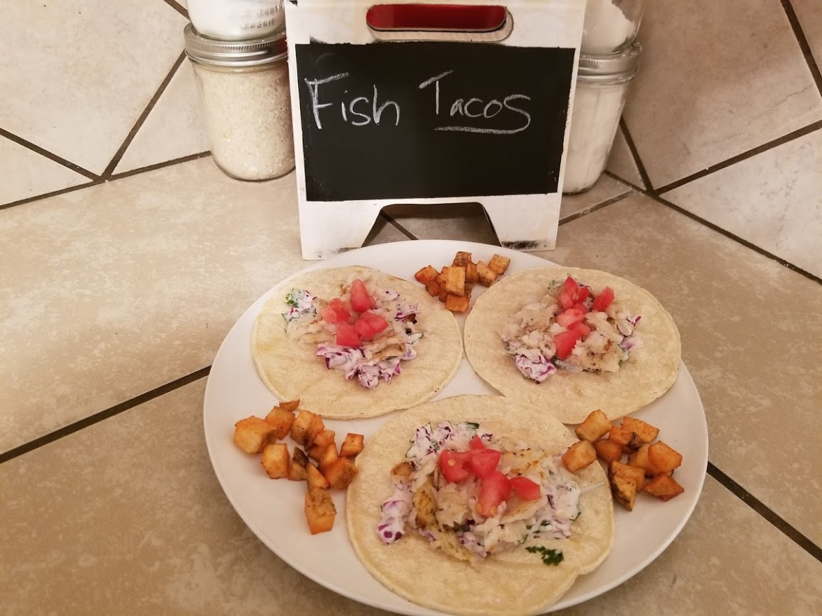 Fish tacos are fast, easy and delicious!