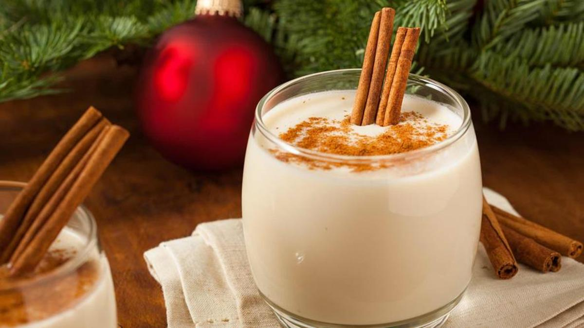 Adding spices such as cinnamon and nutmeg to eggnog takes it up a notch.