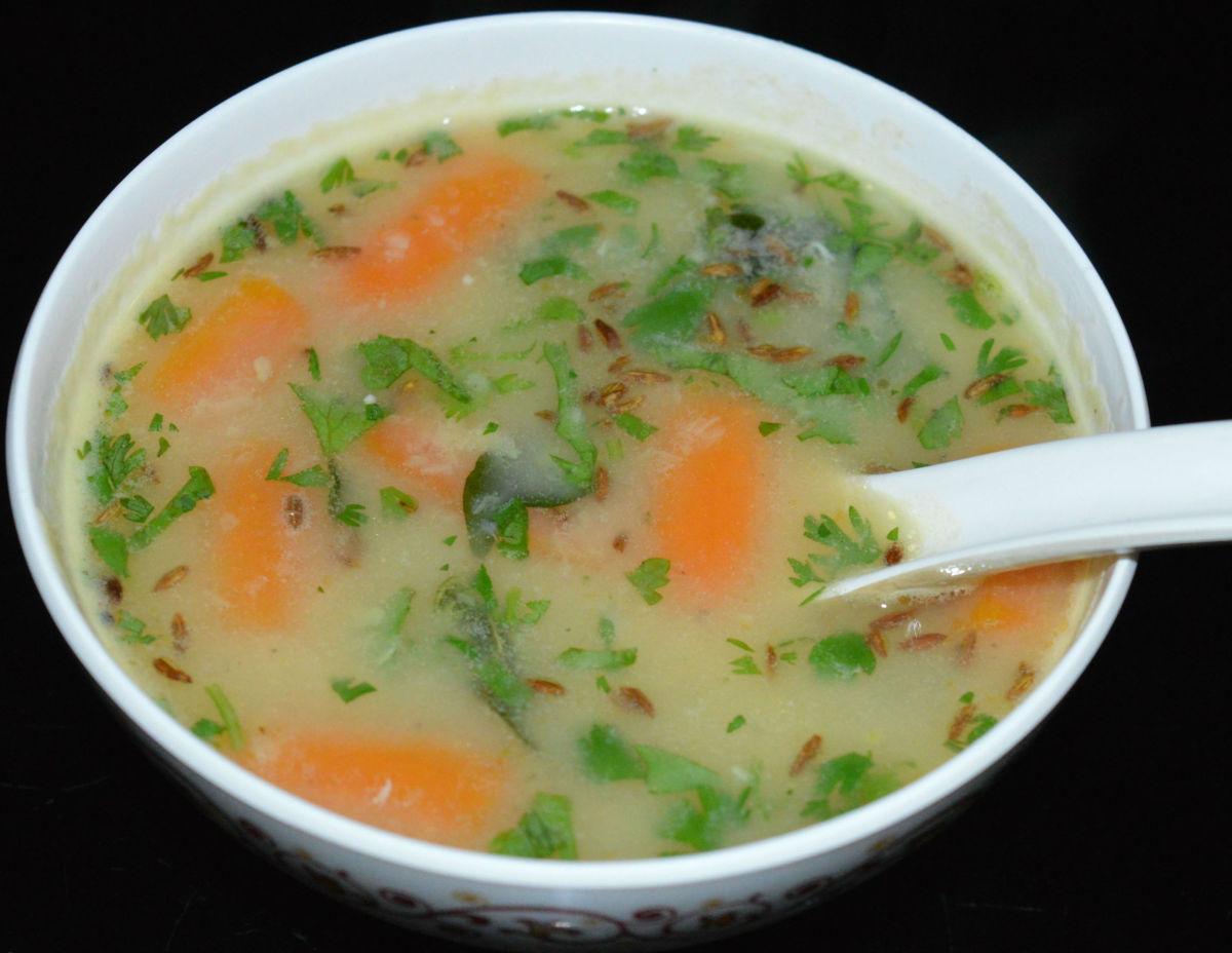 Moong dal soup.
