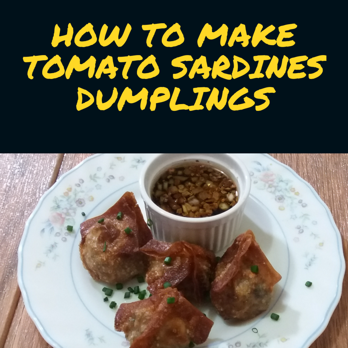 Learn how to make dumplings with sardines in tomato sauce.