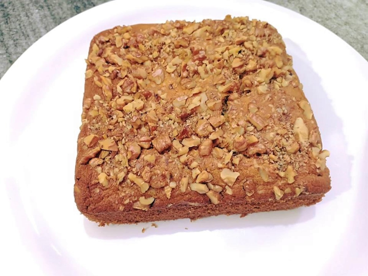 Egg-Free Walnut Cake Recipe With Condensed Milk