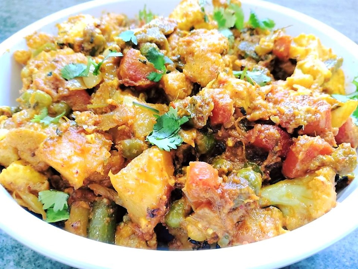 Mixed vegetable sabzi is easy to make, healthy, and delicious.