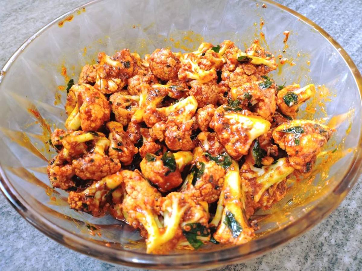 Andhra-Style Cauliflower Pickle Recipe