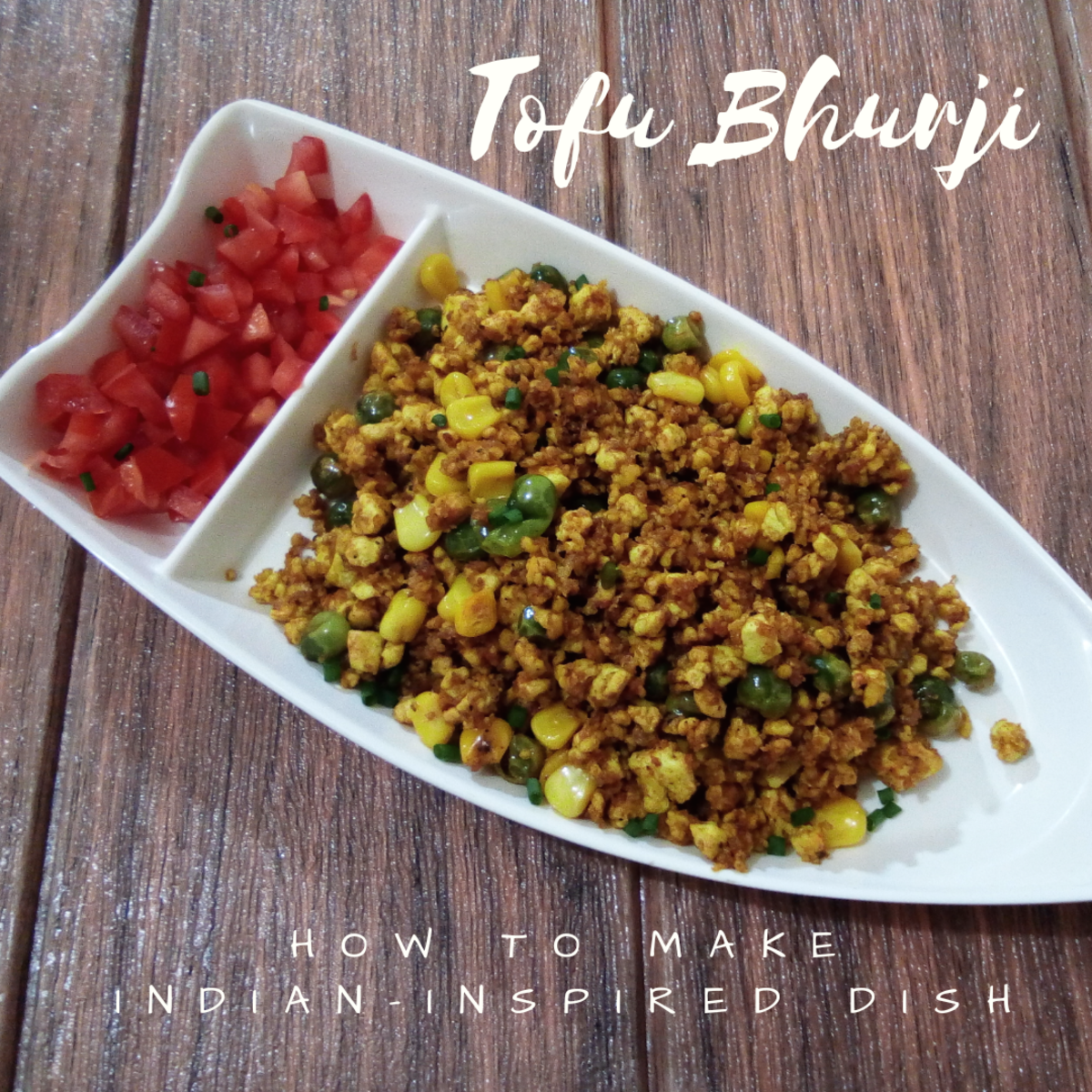 how to make tofu bhurji an Indian-insipred dish