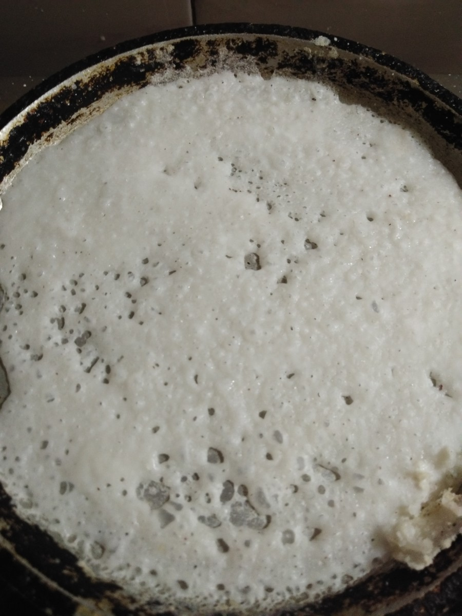 A soft and yummy neer dosa.