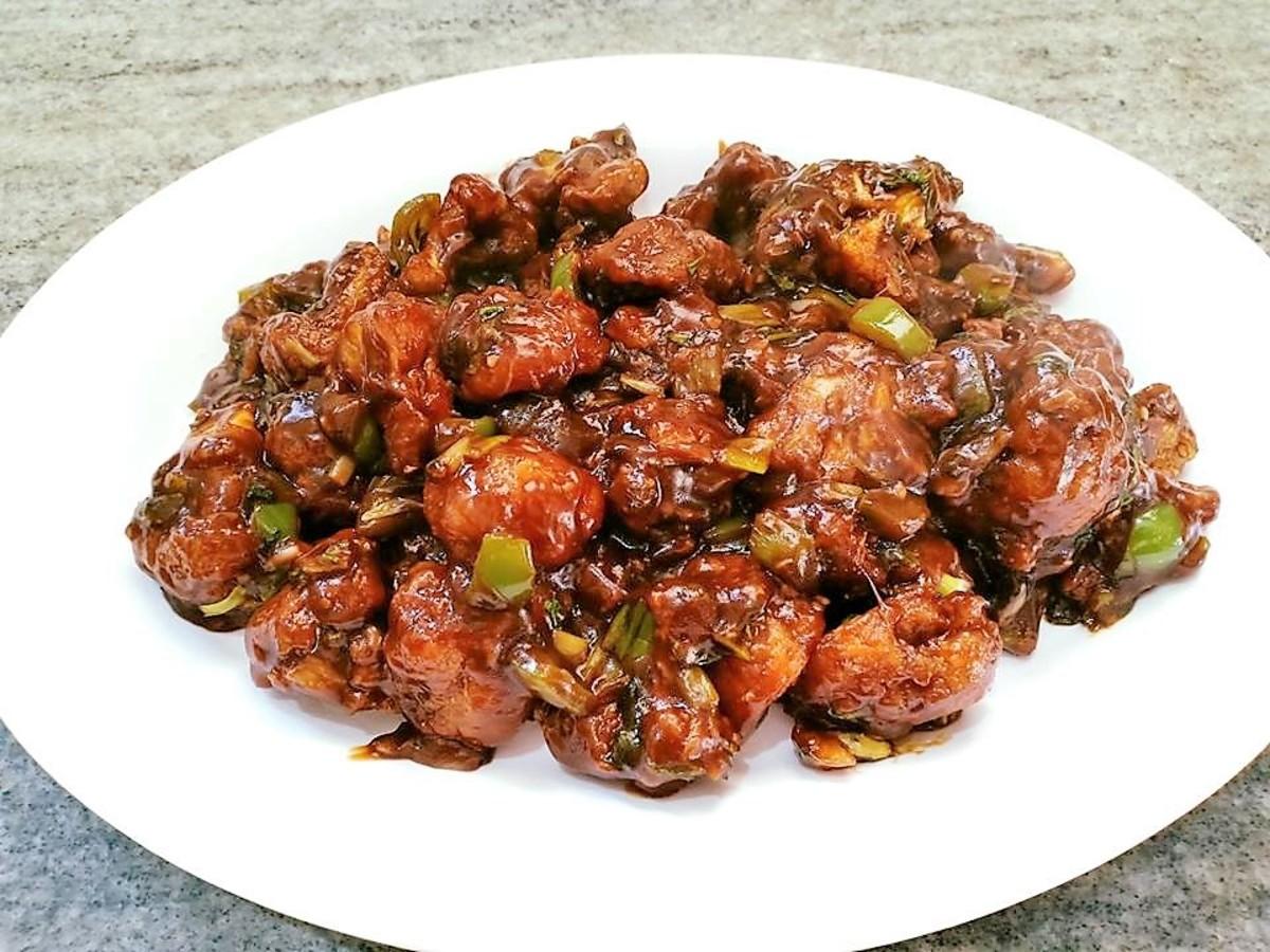 Gobi Manchurian has a crispy texture and a spicy-sweet taste.