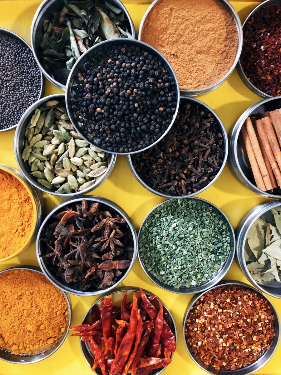 Common spices in Malaysian cuisine.
