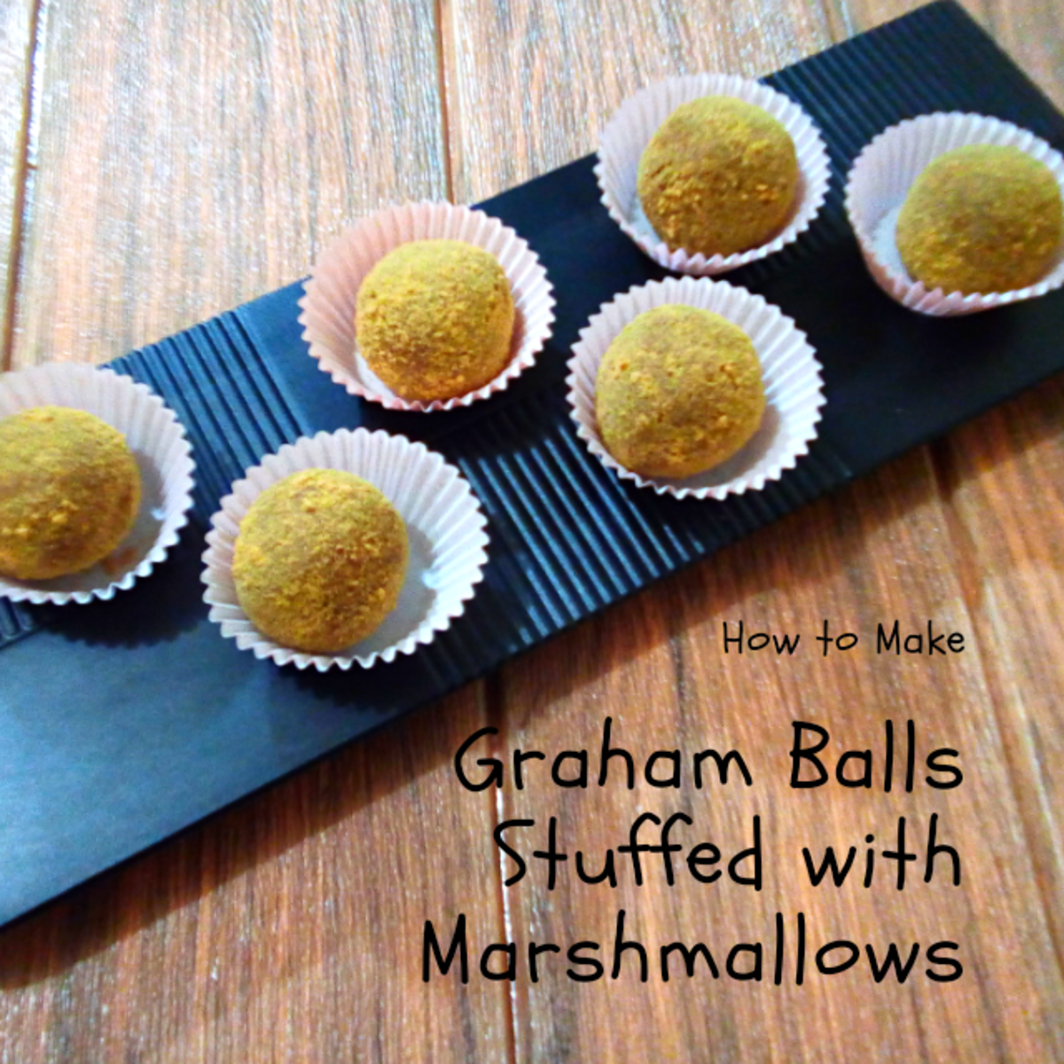 How to Make Graham Balls Stuffed With Marshmallows