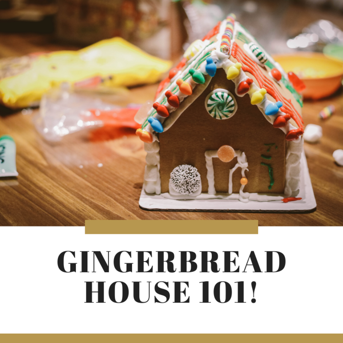 This article provides a great recipe for creating the dough and  icing for your gingerbread house.
